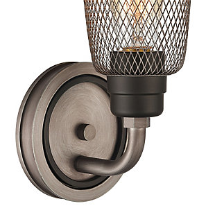 Steel Glencoe Vanity Light, , rollover