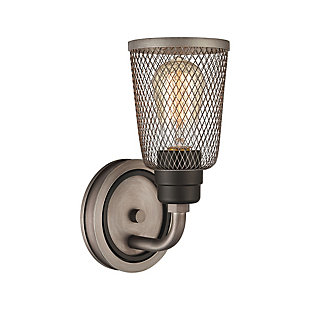 Steel Glencoe Vanity Light, , large