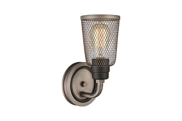 Steel Glencoe Vanity Light, , large