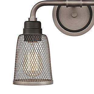 Steel Glencoe 2-Light Vanity Light, , rollover