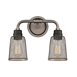Steel Glencoe 2-Light Vanity Light, , large