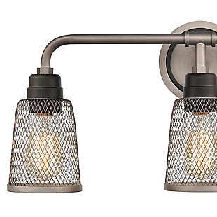 Steel Glencoe 3-Light Vanity Light, , rollover