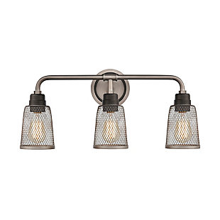 Steel Glencoe 3-Light Vanity Light, , large