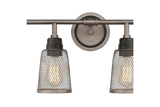 Steel Glencoe 4-Light Vanity Light, , large