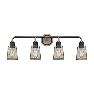 Steel Glencoe 4-Light Vanity Light, , large