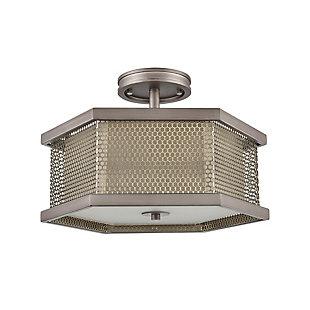 Angular Crestler Semi-Flush Pendant Light, , rollover