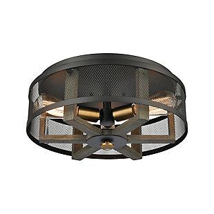 Steel Woodbridge Flush-Mount Pendant Light, , rollover