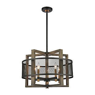 Steel Woodbridge 5-Light Chandelier, , rollover