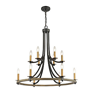 Steel Woodbridge 12-Light Chandelier, , rollover