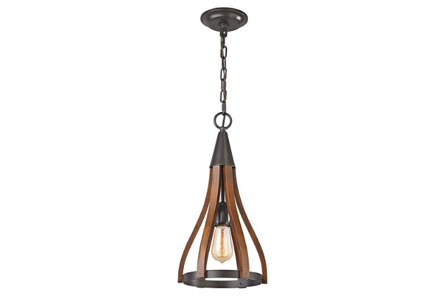 ELK Wood Arches One Light Pendant, , large