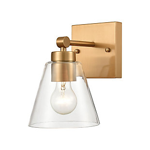 Steel East Point Vanity Light, Satin Brass Finish, large