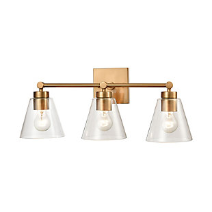 Steel East Point 3-Light Vanity Light, , large