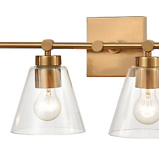 Steel East Point 4-Light Vanity Light, Satin Brass Finish, rollover