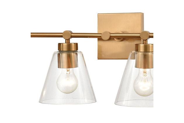 Steel East Point 4-Light Vanity Light, Satin Brass Finish, large