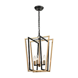 Steel Bridgette 4-Light Pendant, , large