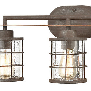 Steel Gilbert 3-Light Vanity Light, , rollover