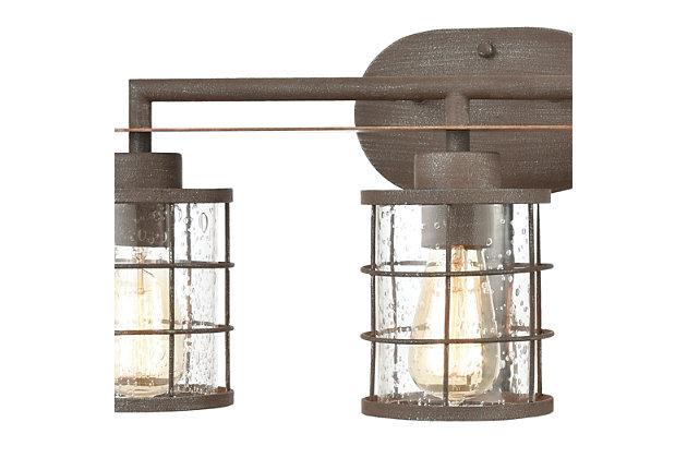 Steel Gilbert 3-Light Vanity Light, , large