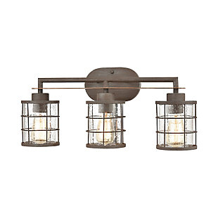 Steel Gilbert 3-Light Vanity Light, , large