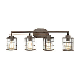 Steel Gilbert 4-Light Vanity Light, , large