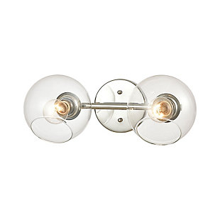 Steel Claro 2-Light Vanity Light, , large