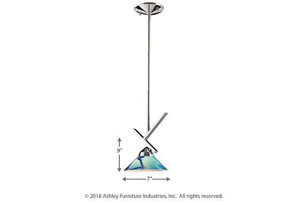ELK Refraction One Light Pendant, , large