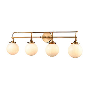 Steel Beverly Hills 4-Light Vanity Light, , large