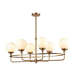 Steel Beverly Hills 6-Light Island Chandelier, , large