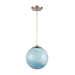 Mini Planetario Pendant, Nickel Finish/Aqua, rollover