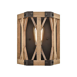 Post and Beam Structure Sconce, , large