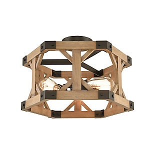 Post and Beam Structure Semi-Flush Pendant Light, , rollover
