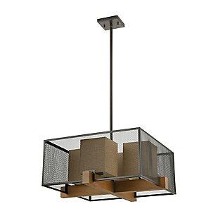 Modern Crossbeam 4-Light Chandelier, , rollover