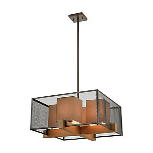 Modern Crossbeam 4-Light Chandelier, , large