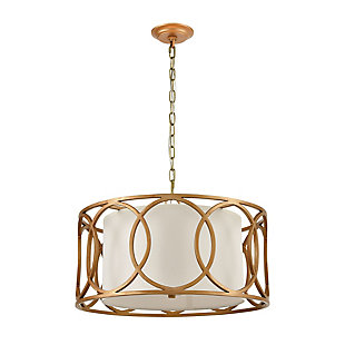 Metal Ringlets 4-Light Chandelier, , rollover