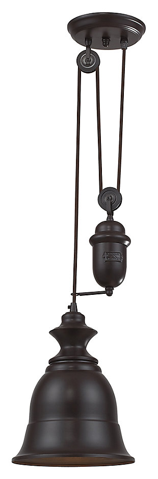 ELK Farmhouse One Light Adjustable Pendant, , rollover