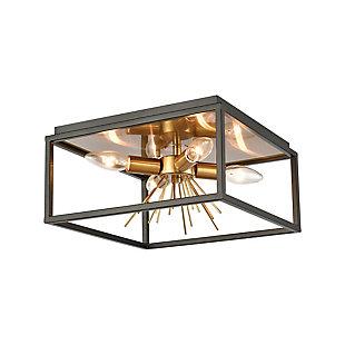 Steel Spark Flush Mount Pendant Light, , large
