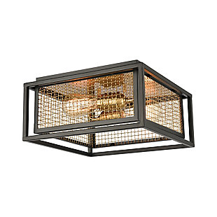 Steel Jarvis Flush Mount Pendant Light, , rollover