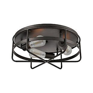 Steel Wickshire Flush Mount Pendant Light, , rollover