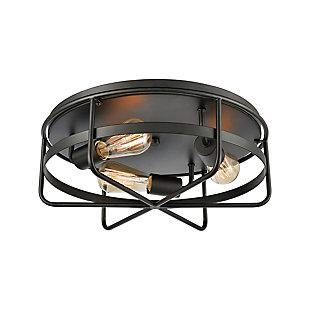 Steel Wickshire Flush Mount Pendant Light, , large