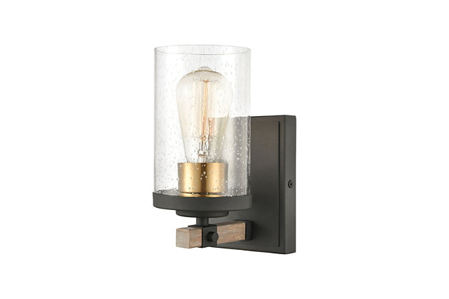 Steel Geringer Vanity Light, , large