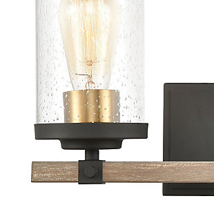 Steel Geringer 2-Light Vanity Light, , rollover