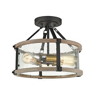 Steel Geringer Semi-Flush Pendant Light, , large