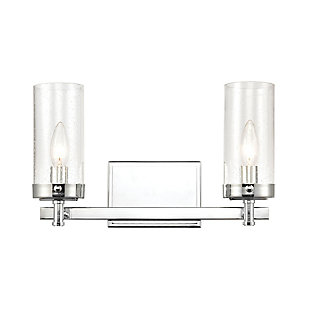 Steel Melinda 2-Light Vanity Light, , large
