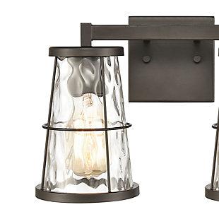 Steel Kendrix 2-Light Vanity Light, , rollover