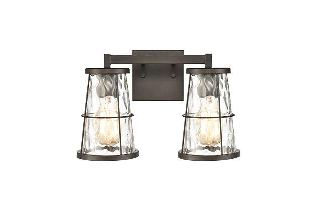 Steel Kendrix 2-Light Vanity Light, , large
