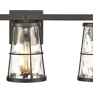 Steel Kendrix 3-Light Vanity Light, , rollover