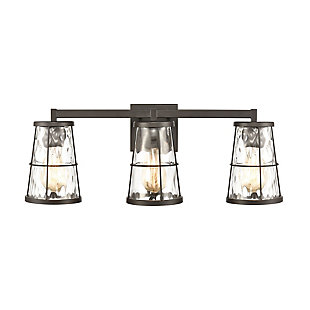 Steel Kendrix 3-Light Vanity Light, , large