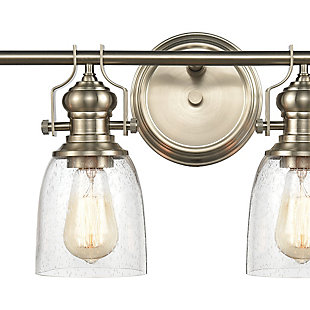 Steel Chadwick 4-Light Vanity Light, Satin Nickel Finish, rollover