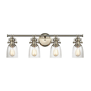 Steel Chadwick 4-Light Vanity Light, Satin Nickel Finish, large