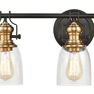 Steel Chadwick 3-Light Vanity Light, Bronze/Brass Finish, rollover