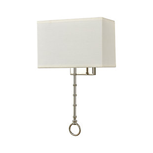 Two-Light Shannon Sconce, Chrome Finish/White, rollover